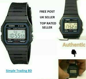 Casio F91W Classic Digital RETRO Sports Alarm Stopwatch Watch-2 Years warranty