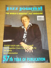 JAZZ JOURNAL INTERNATIONAL VOL 57 #8 2004 AUGUST GEOFF EALES GEORGE HANDY