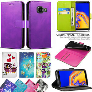 Case For Samsung Galaxy J4 J6 Plus PU Leather Flip Wallet Phone Stand Cover
