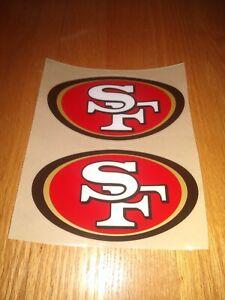 San Francisco 49ers football Helmet Decals Full size