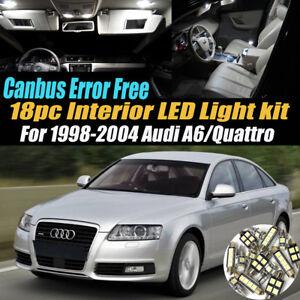 18Pc Error Free Car Interior LED White Light Kit for 1998-2004 Audi A6/Quattro