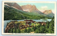 Going-to-the-sun Chalets St Mary Lake Glacier National Park Montana Postcard A19