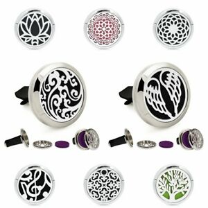 Twist Locket Car Vent Clip Air Freshener Essential Oil Aromatherapy Diffuser New