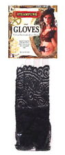 SteamPunk Cosplay Black Ruffled Lace Fingerless Gloves, NEW UNWORN