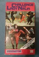 CHALLENGE OF THE LADY NINJA VHS MARTIAL ARTS KUNG FU WOMEN ACTION RARE USA