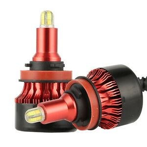 2Pcs 8-sides 3D H11 LED Low Beam Headlight Fog Lights Car Bulbs Kit 6000k White