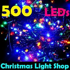 500 MULTICOLOUR LED Flashing Christmas Fairy String Outdoor 20m Party Lights