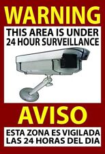 """Warning Security Sign Video Surveillance Sticker Camera Home Business 13x19"""""""