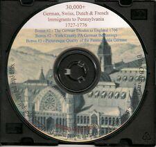 German, Swiss Immigrants to Pennsylvania 1727-1776