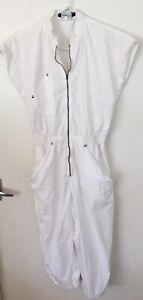Ladies Vintage 80's ESPRIT Jumpsuit  Size Medium 8-10 Summer Rose Hips Cotton