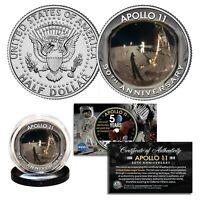 APOLLO 11 50th Anniv of Moon Landing GOLDEN VISOR Iconic Image Genuine JFK Coin