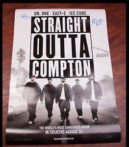 GFA N.W.A. DJ Yella MC Ren STRAIGHT OUTTA COMPTON Signed Movie Poster COA