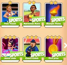 Sports Full Set Collection Coin Master Frist Prize &other whites (Fast Delivery)