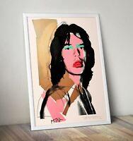 Andy Warhol Pop Art Print, Mick Jagger Print, Wall Art