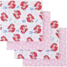 Disney Ariel Ocean Beauty Baby Flannel Receiving Blankets, 4pk little mermaid