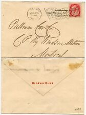 CANADA 1901 to RAILWAY PULMAN CAR CO + OTTAWA FLAG MACHINE..RIDEAU CLUB ENVELOPE