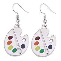 Fashion Palette 925 Silver Drop Earrings Women Jewelry Free Shipping A Pair/set