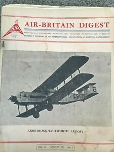 Air Britain Magazine 1951 complete 12 issues plus January 1952 (13)