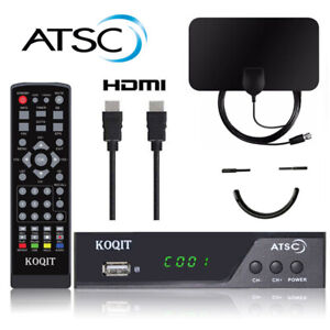 Atsc Digital Converter box Analog FTA Receiver + Clear Indoor antenna tv digital