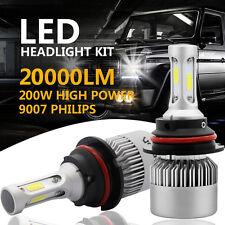 PHILIPS COB 9007 HB5 200W 20000LM LED Headlight Kit Hi/Lo Power Bulbs 6500K Cool