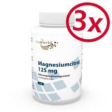 Pack di 3  Magnesio Citrato  125mg  360 Capsule  Vita World Farmacia Germania