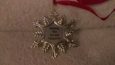 Christmas ornament Lenox Metal multi point snowflake Wishing You Joy & Happiness