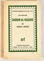 🌓 EO Gabriel AUDISIO La vie de Haroun-Al-Raschid 1930 envoi à Michel Corday
