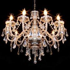 Elegant Modern K9 Crystal Chandelier Ceiling Lighting Gold Pendant Lamp Fixture
