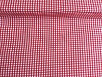 """NEW 1/8"""" GINGHAM PolyCotton FABRIC RED Checked Craft 50 cm Wide Reduced Pric"""