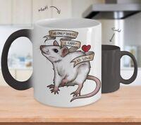 Rat Lover - Inspirational Mug - Color Changing Mug - Coffee Mug Tea Cup Gifts