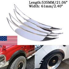 Us Chrome Car Wheel Eyebrow Arch Protector Trim Lip Fender Flares Universal 4x Fits Toyota Yaris