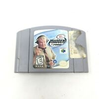 Madden 2000 Nintendo N64 EA Sports Video Game Tested