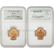 Sweden 1890 Eb20 Kronor Gold Ngc Ms-64