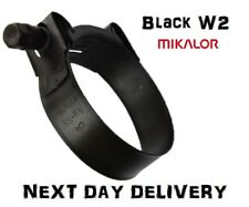 Mikalor W2 Black | Stainless Steel | Hose Clamps | Supra | Exhaust | T Bolt |