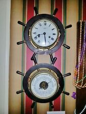 Nautical Clock and Barometer set. Fine quality ship's bell Schatz Mariner