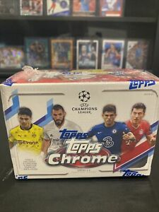 Topps Chrome 2020-21 UEFA Champions League Blaster Box (31 Cards, Pink X-Factor
