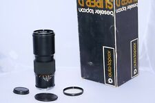 Topcon RE. Auto Topcor 300mm f5.6 telephoto lens with caps. Black with Box