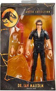 Mattel Dr Ian Malcolm Amber Collection Jurassic Park UK New & MISB