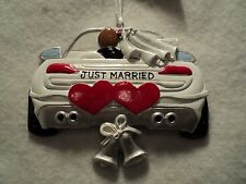 """KSA """"JUST MARRIED WEDDING CAR ORNAMENT"""" ~ FOR PERSONALIZATION"""