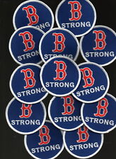 2018 Boston Red Sox Marathon B STRONG PATCH Benintendi Pedroia Devers Ramirez