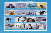 Chad 2018 CTO Animals of Antarctica 16v M/S Penguins Birds Seals Whales Stamps
