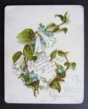 Vintage old THE SEASON'S GREETINGS CARD 1886 RAPHAEL TUCK & Sons J SERIES 563