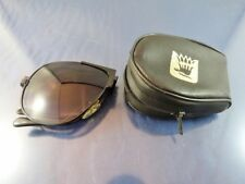 Vintage blue to clear Compact Fold Up Sun Glasses with case By R C O Taiwan