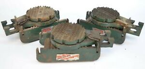 Lot of (3) Hilman 3-Express 10-Ton Equipment Machinery Chain Action Roller Set
