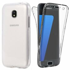 Shockproof Slim 360° Front and Back Full Body TPU Silicon Case Cover For Samsung