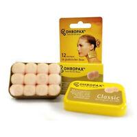 Ohropax Classic Earplugs - 6 Pairs Discrete skin-coloured Reusable Wax/Cotton