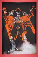 55d466d8b2a Gene Simmons of Kiss Rock Band Demon Costume Promo Poster 24X36 New KGEN