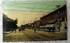 1910 POSTCARD RAILROAD TROLLEY TRAIN SPADINA AVE TORONTO CANADA #79