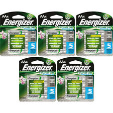 5 Pack Energizer Recharge AA Rechargeable Batteries 2300mAh 4 Batteries Each
