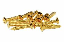 "#3 x 5/8"" Phillips Oval Head Wood Screw - misc guitar hardware - Gold"
